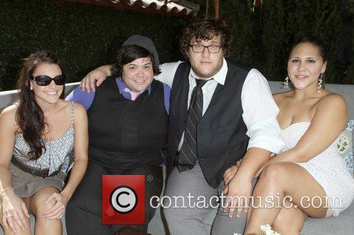Harvey Guillen with 'Huge' cast members The 9th...