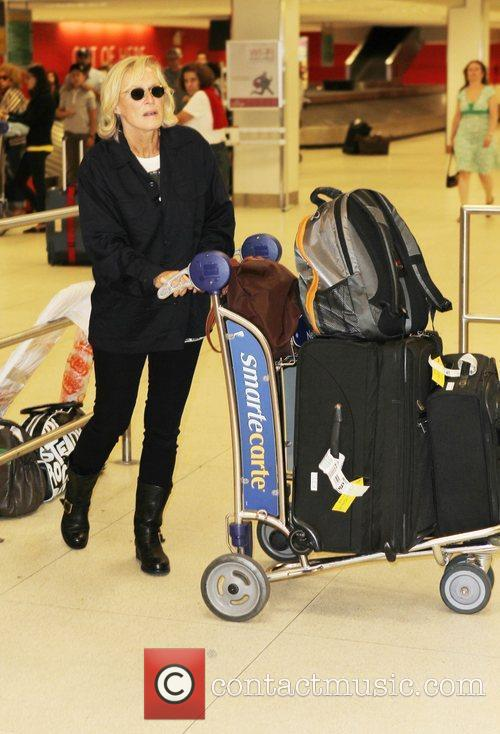 Glenn Close is seen arriving at JFK airport...