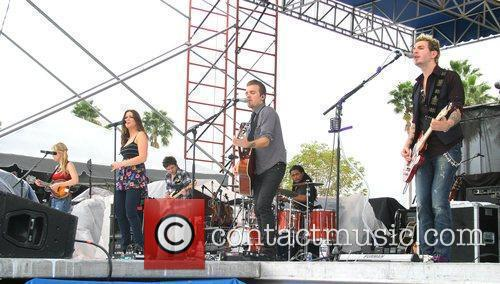 Gloriana performs at the 25th Anniversary KISS Country...