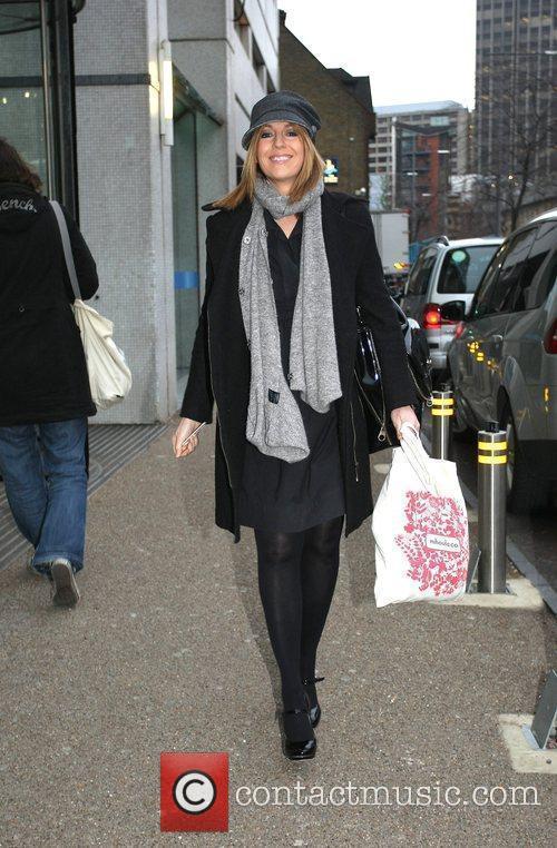Helen Moreton leaving the London studios London, England
