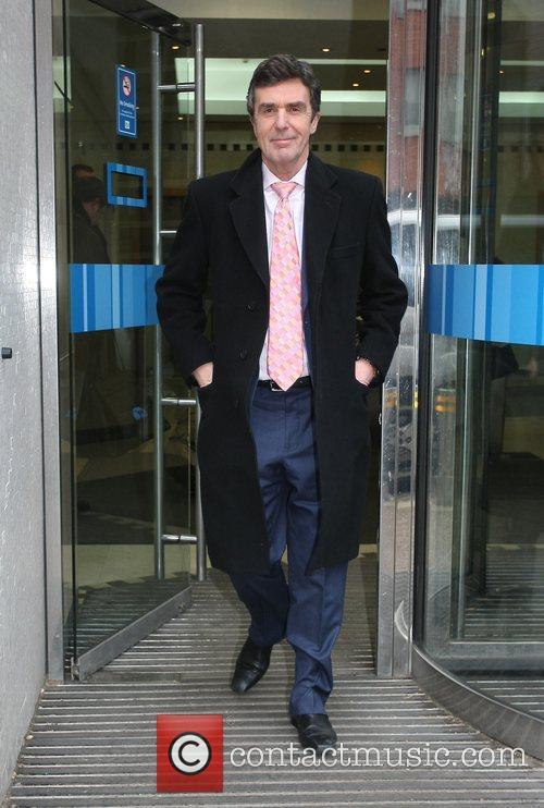 John Stapleton leaving the London studios London, England