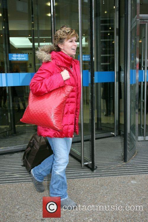 Kate Garraway leaving the London studios London, England