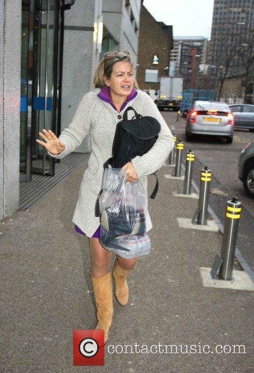 Penny Smith leaving the London studios London, England