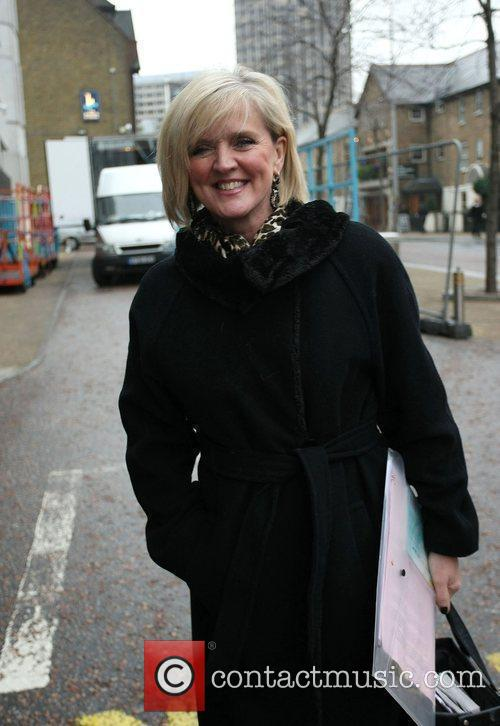 Bernie Nolan leaving the London studios London, England