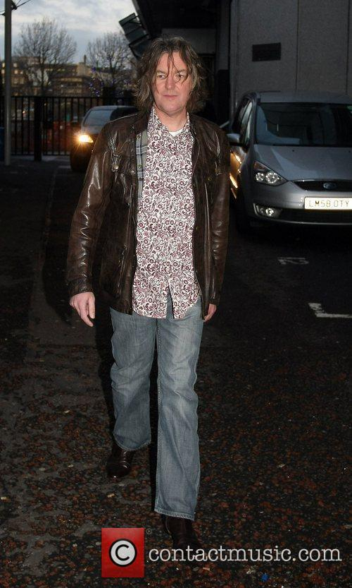 James May leaves the GMTV studios London, England