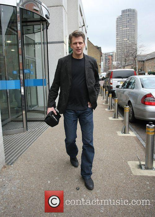 Andrew Castle GMTV presenters leaving the ITV studios...