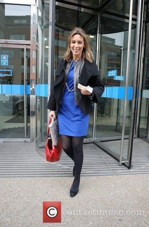 Emma Crosby GMTV presenters leaving the ITV studios...