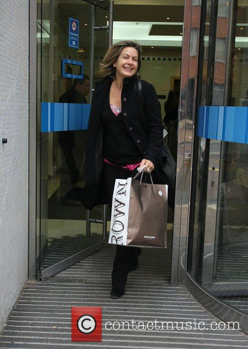 Penny Smith GMTV presenters leaving the ITV studios...