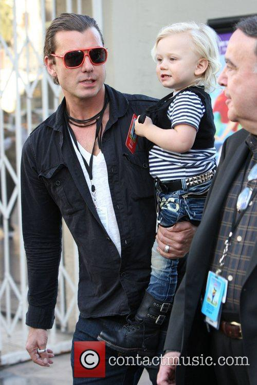 Gavin Rossdale and his son Zuma Rossdale Gnomeo...