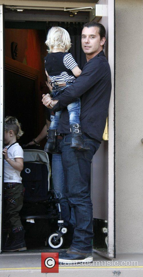Gavin Rossdale and his son Zuma Gnomeo and...