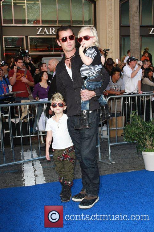 Gavin Rossdale and his sons Kingston and Zuma...