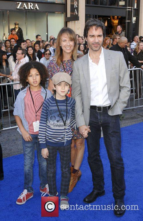 Eric McCormack and family Gnomeo and Juliet World...