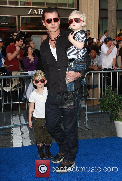 Gavin Rossdale and sons Kingston and Zuma Rossdale...