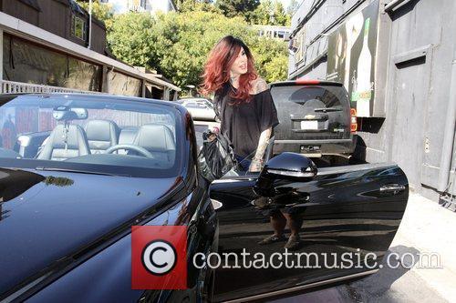 Kat Von D gets into her Bentley Continental...