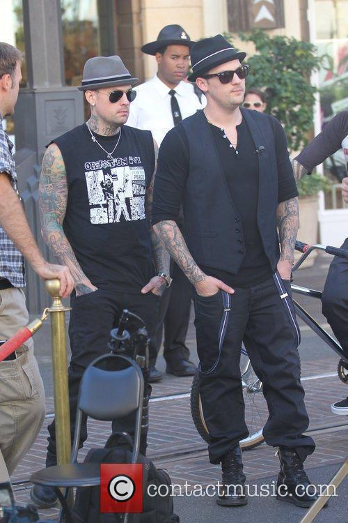Benji Madden and Joel Madden Good Charlotte brothers...