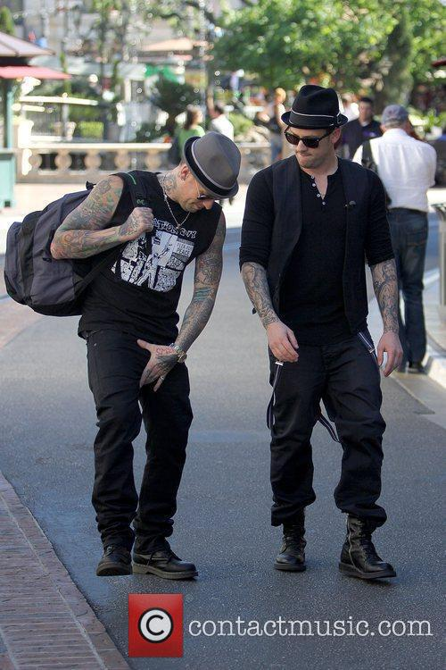 Good Charlotte brothers at The Grove in Hollywood