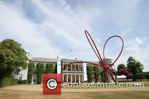 Alfa Romeo Centenary central sculpture at Goodwood Festival...