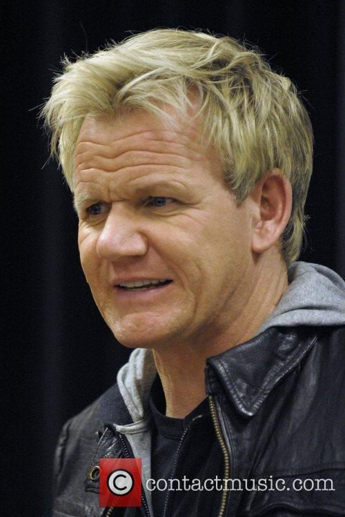 Gordon Ramsay  autograph session for his latest...