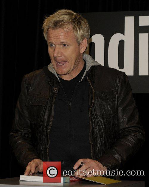 Autograph session for his latest cookbook 'Gordon Ramsay's...