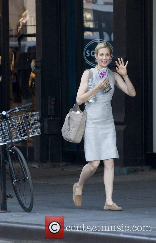 Kelly Rutherford on location with 'Gossip Girl' in...