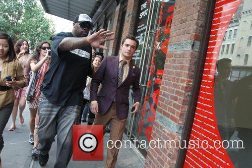 On the set of 'Gossip Girl' in Manhattan