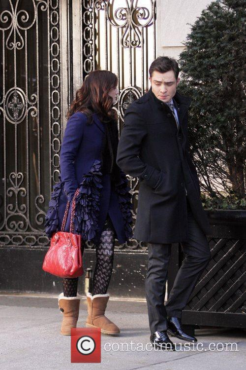 Leighton Meester and Ed Westwick 1