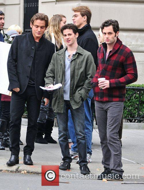 On the set of 'Gossip Girl'