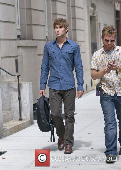 On the set of 'Gossip Girl', filming on...