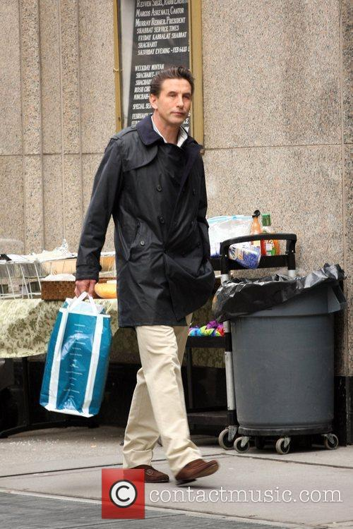 Billy Baldwin on the set of 'Gossip Girl'...