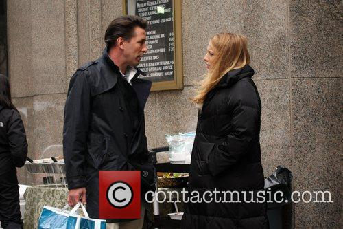 Billy Baldwin and Blake Lively on the set...