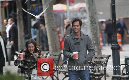 Leighton Meester and Penn Badgley are attacked by...