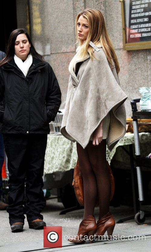 On the set of 'Gossip Girl' shooting on...