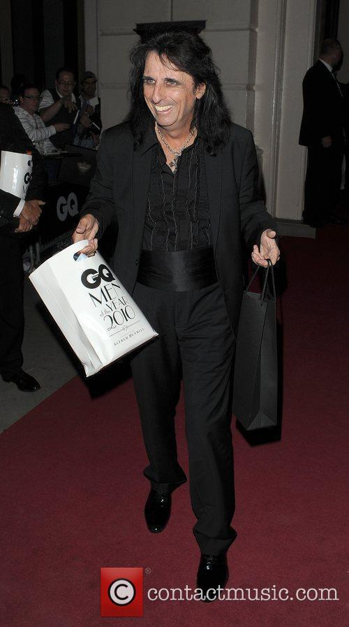 Alice Cooper leaving the GQ Man of the...