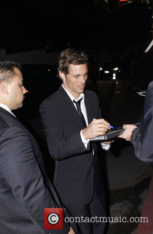 James Marsden  celebrities outside Chateau Marmont after...