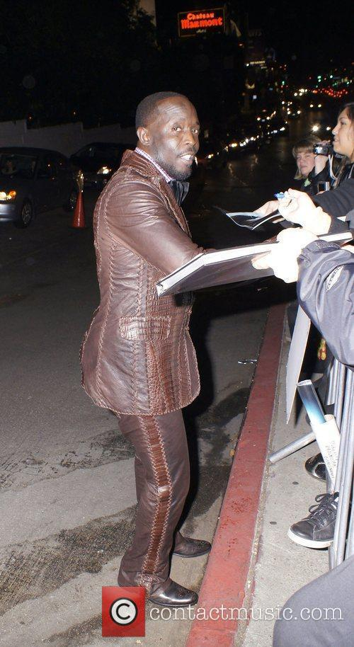 Michael Kenneth Williams  celebrities outside Chateau Marmont...