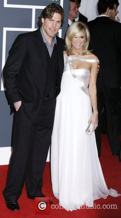 Mike Fisher and Carrie Underwood 52nd Annual Grammy...