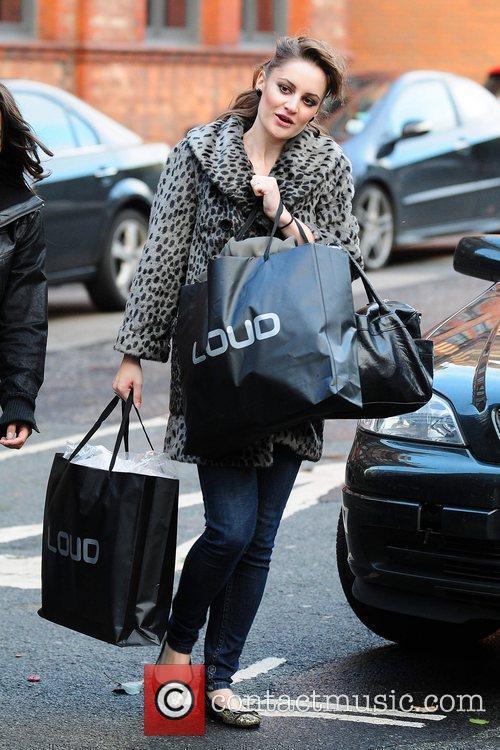 Paula Lane Celebrities arriving at the Granada Television...