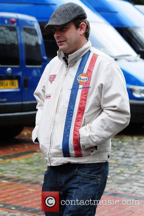 Simon Gregson Celebrities arriving at the Granada Television...