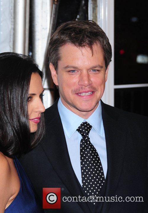 Luciana Barroso and Matt Damon 7