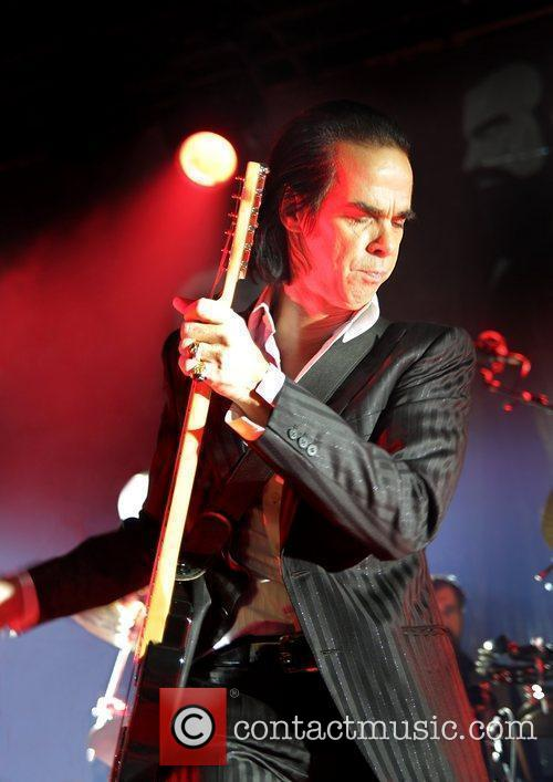 Nick Cave of Grinderman performing at the Manchester...