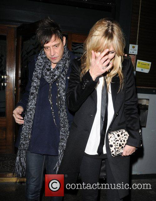 Kate Moss and Jamie Hince leaving Groucho