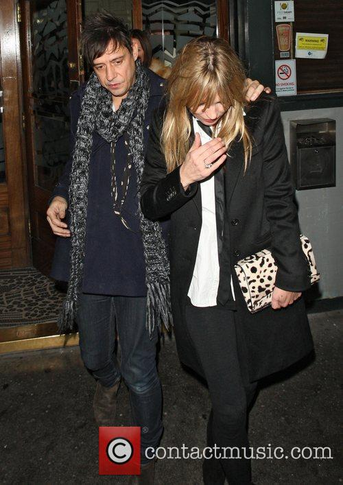 Kate Moss and Jamie Hince leaving Groucho Club...