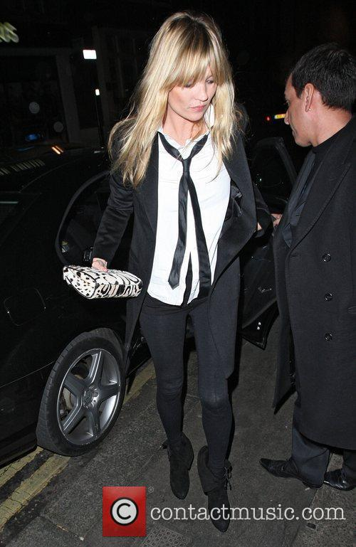 Kate Moss arriving at Groucho London, England