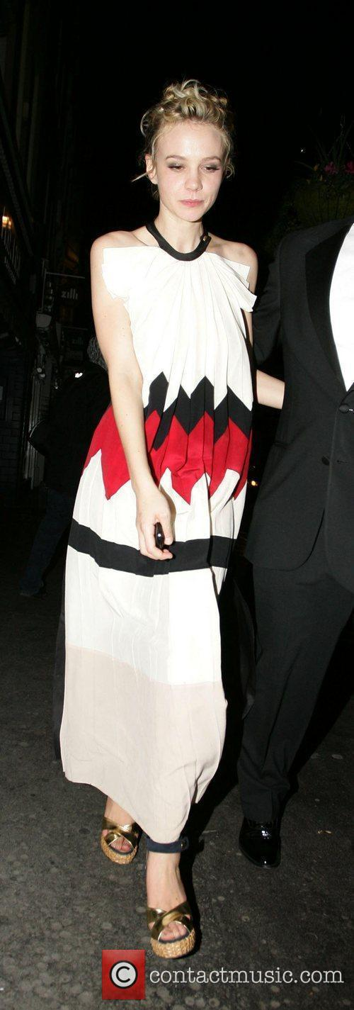 Carey Mulligan leaving the Groucho Club after the...