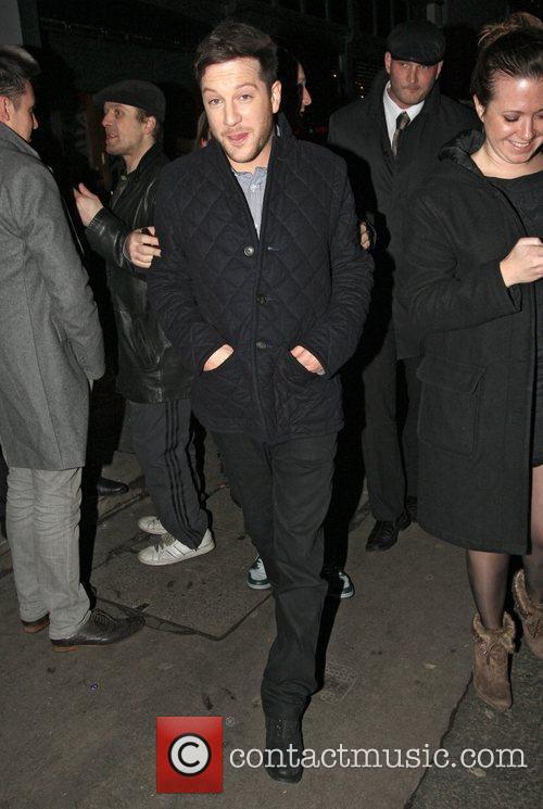 X Factor winner Matt Cardle leaving the Groucho...