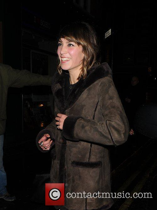 Alexa Chung leaving the Groucho Club London, England