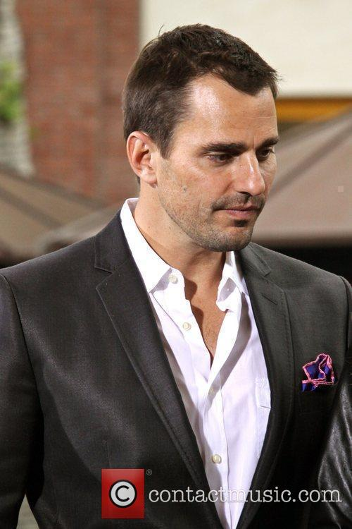Bill Rancic  film an interview for the...