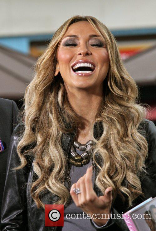 Giuliana Rancic  film an interview for the...