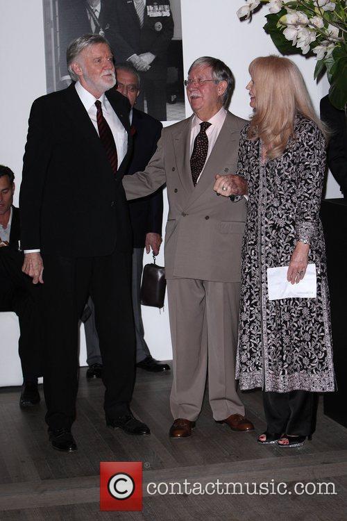 (l-r) Barry Crocker, Reg Grundy and Joy Chambers...