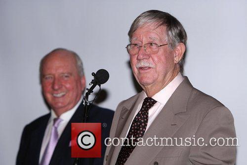 Reg Grundy (right) and Alan Jones Australian media...
